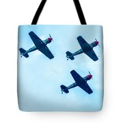 Action In The Sky During An Airshow Tote Bag