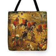 Ascent To Calvary, By Pieter Bruegel Tote Bag