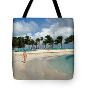 Beach At Coco Cay Tote Bag