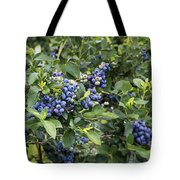 Blueberry Bush Tote Bag
