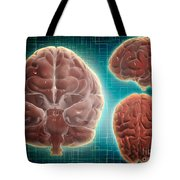 Conceptual Image Of Human Brain Tote Bag