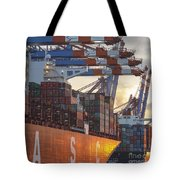 Hamburg Harbor Container Terminal Tote Bag