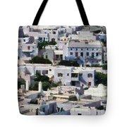 Mykonos Town Tote Bag