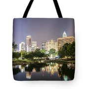 Skyline Of Uptown Charlotte North Carolina At Night Tote Bag