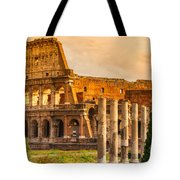The Majestic Coliseum - Rome Tote Bag