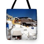 Views From Santorini Greece Tote Bag