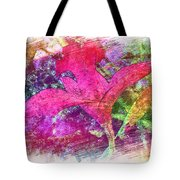 The Red Orchid Tote Bag