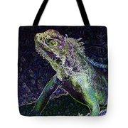 Abstract Cayman Iguana Tote Bag