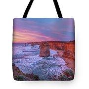 12 Apostles At Sunset Pano Tote Bag