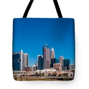 Charlotte City Skyline Autumn Season Tote Bag