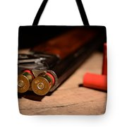 12 Gauge Over And Under Shotgun Tote Bag