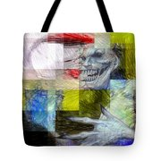 Halloween Mask Tote Bag