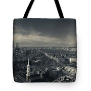 High Angle View Of A City Tote Bag
