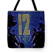 12 In  Blue Tote Bag