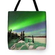 Intense Display Of Northern Lights Aurora Borealis Tote Bag