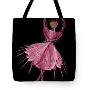 12 Pink Ballerina Tote Bag