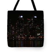 San Diego Skyline Night Tote Bag