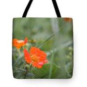 Scarlet Avens Orange Wild Flower Tote Bag