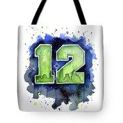 12th Man Seahawks Art Seattle Go Hawks Tote Bag