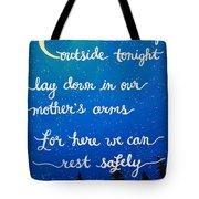 12x16 Dmb So Let Us Sleep Outside Tonight Tote Bag
