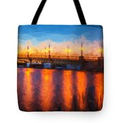 Bridge Of Lions St Augustine Florida Painted  Tote Bag
