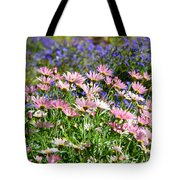 Background Of Colorful Flowers Tote Bag