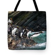 Macaroni Penguin Tote Bag