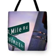 13 Mile Road And Woodward Avenue Tote Bag