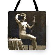 Vintage Nude Postcard Image Tote Bag