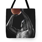 Basketball Shot Tote Bag