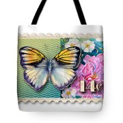 14 Cent Butterfly Stamp Tote Bag