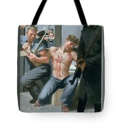 14. Jesus Is Nailed To The Cross / From The Passion Of Christ - A Gay Vision Tote Bag
