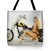 Models And Motorcycles Tote Bag