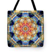 Rainbow Light Mandala Tote Bag
