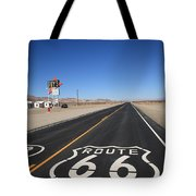 Route 66 Shield Tote Bag by Frank Romeo
