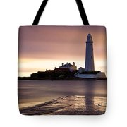 St Marys Lighthouse Tote Bag