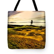 #15 At Chambers Bay Golf Course  Tote Bag by David Patterson
