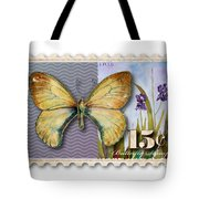 15 Cent Butterfly Stamp Tote Bag