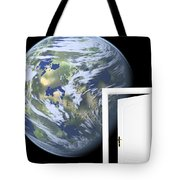 Door To New World Tote Bag
