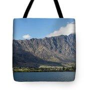 Lake With Mountain Range Tote Bag