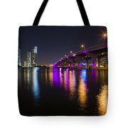 Miami Downtown Skyline Tote Bag