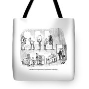 And This Is Our Department Of Experimental Tote Bag by Robert Weber