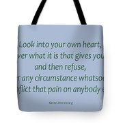 156- Karen Armstrong Tote Bag