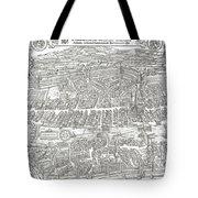 1576 Zurich Switzerland Map Tote Bag