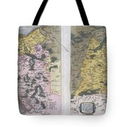 1579 Ortelius Map Of Calais And Vermandois France And Vicinity Tote Bag