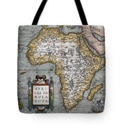 1584 Map Of Mysterious Africa Tote Bag