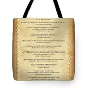159- The Paradoxical Commandments Tote Bag