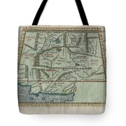 1597 Ptolemy  Magini  Keschedt Map Of Pakistan Iran And Afghanistan Tote Bag by Paul Fearn