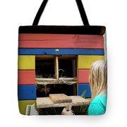 A Backyard Chicken Coop In Austin Tote Bag
