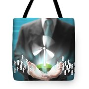 Business Abstract Tote Bag